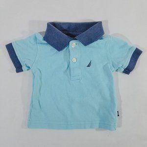 Baby Nautica Adorable Two-Tone Blue Polo Shirt